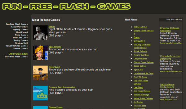 fun free flash games